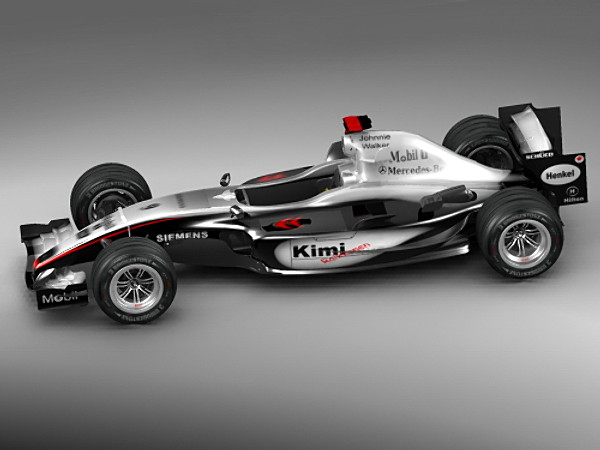 f1 mclaren 2005 racing car vehicles 3d models