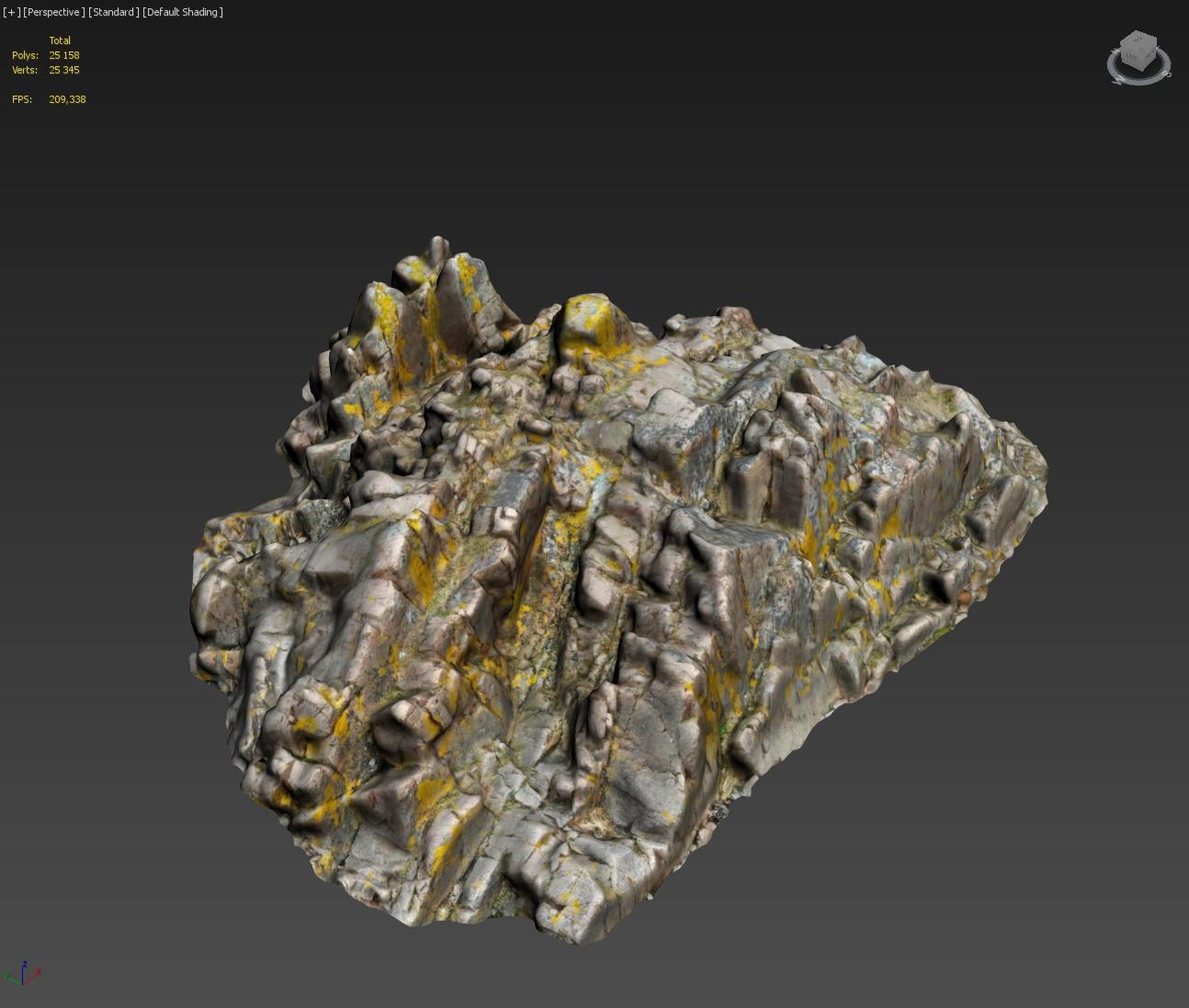 3d scanned rock cliff P2