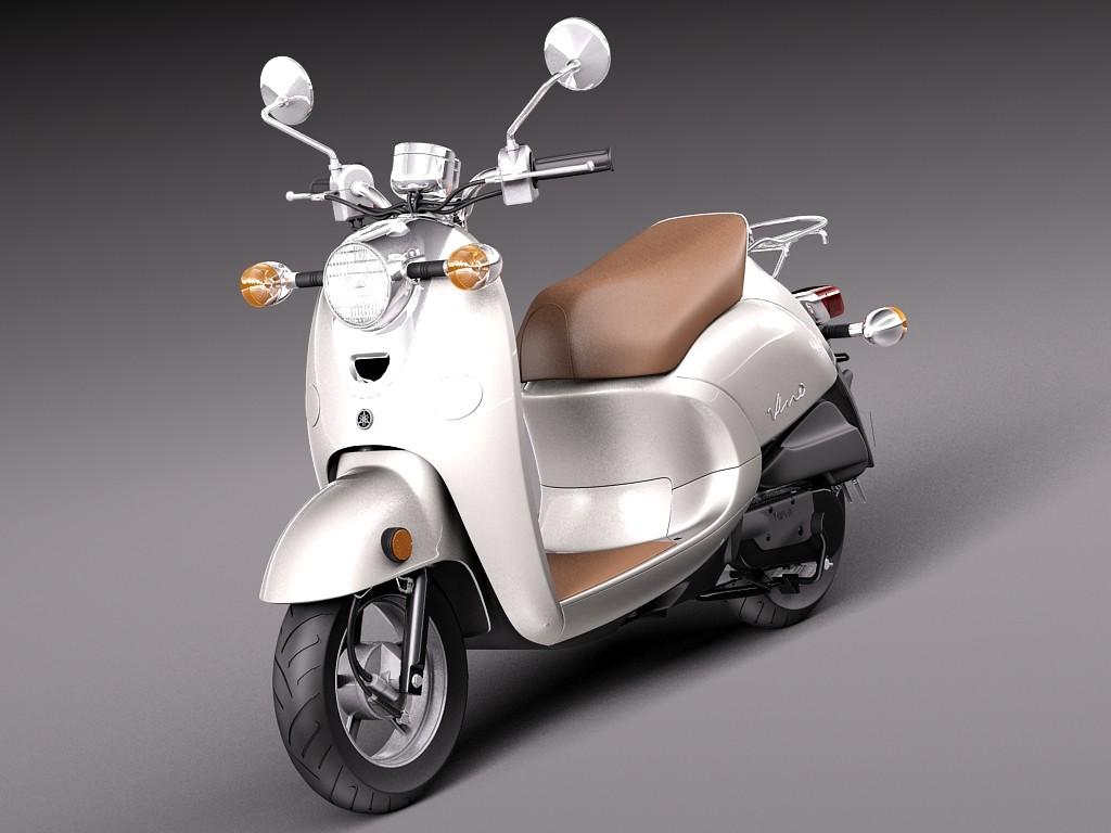 Yamaha Vino Classic 2014 Motorcycle Vehicles 3D Models