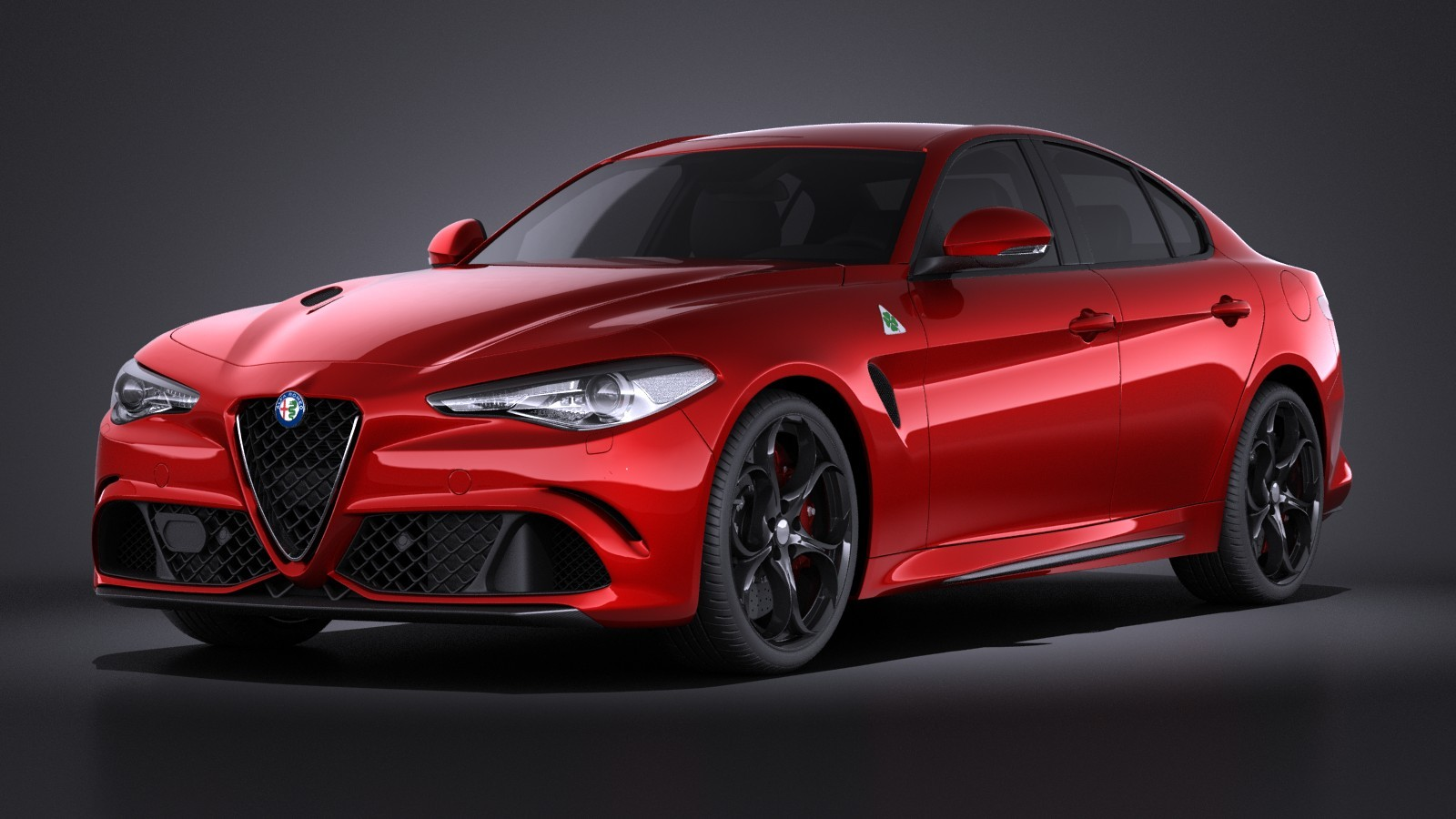 alfa romeo giulia quadrifoglio 2016 vray sedan car vehicles 3d models. Black Bedroom Furniture Sets. Home Design Ideas