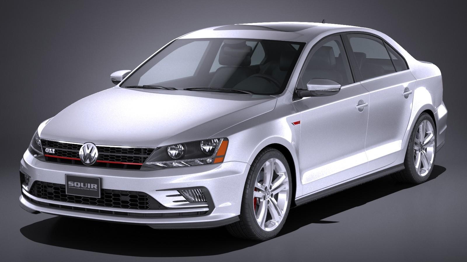 Volkswagen Jetta Gli 2017 Usa Sedan Car Vehicles 3d Models