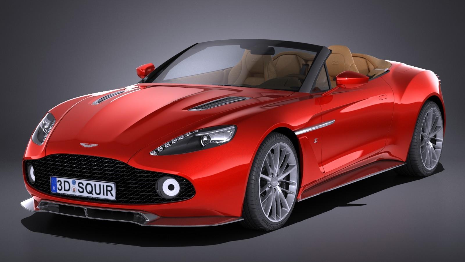 Vanquish Zagato For Sale >> Aston Martin Vanquish Zagato Volante 2017 Convertible Car Vehicles 3D Models