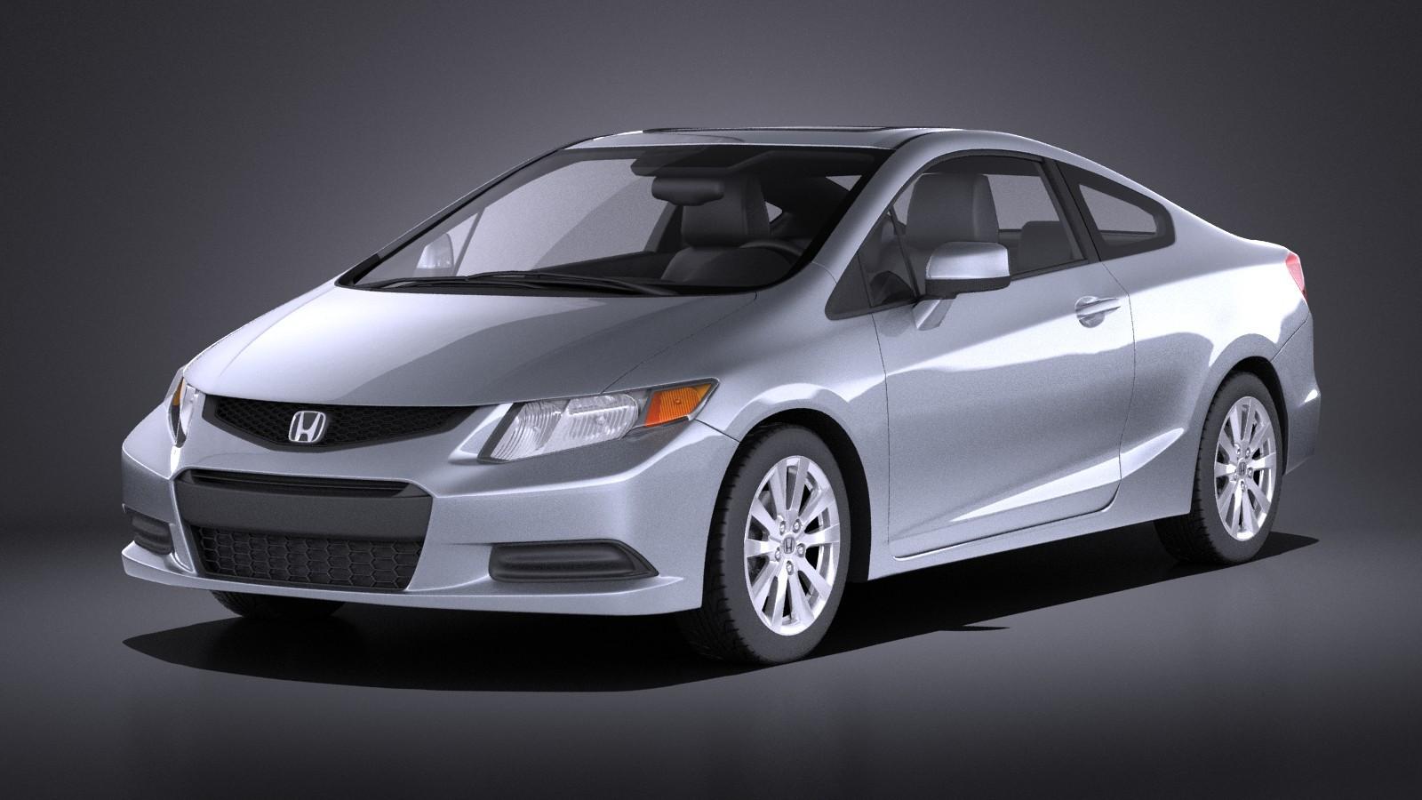 Honda Civic 2013 Usa Coupe VRAY