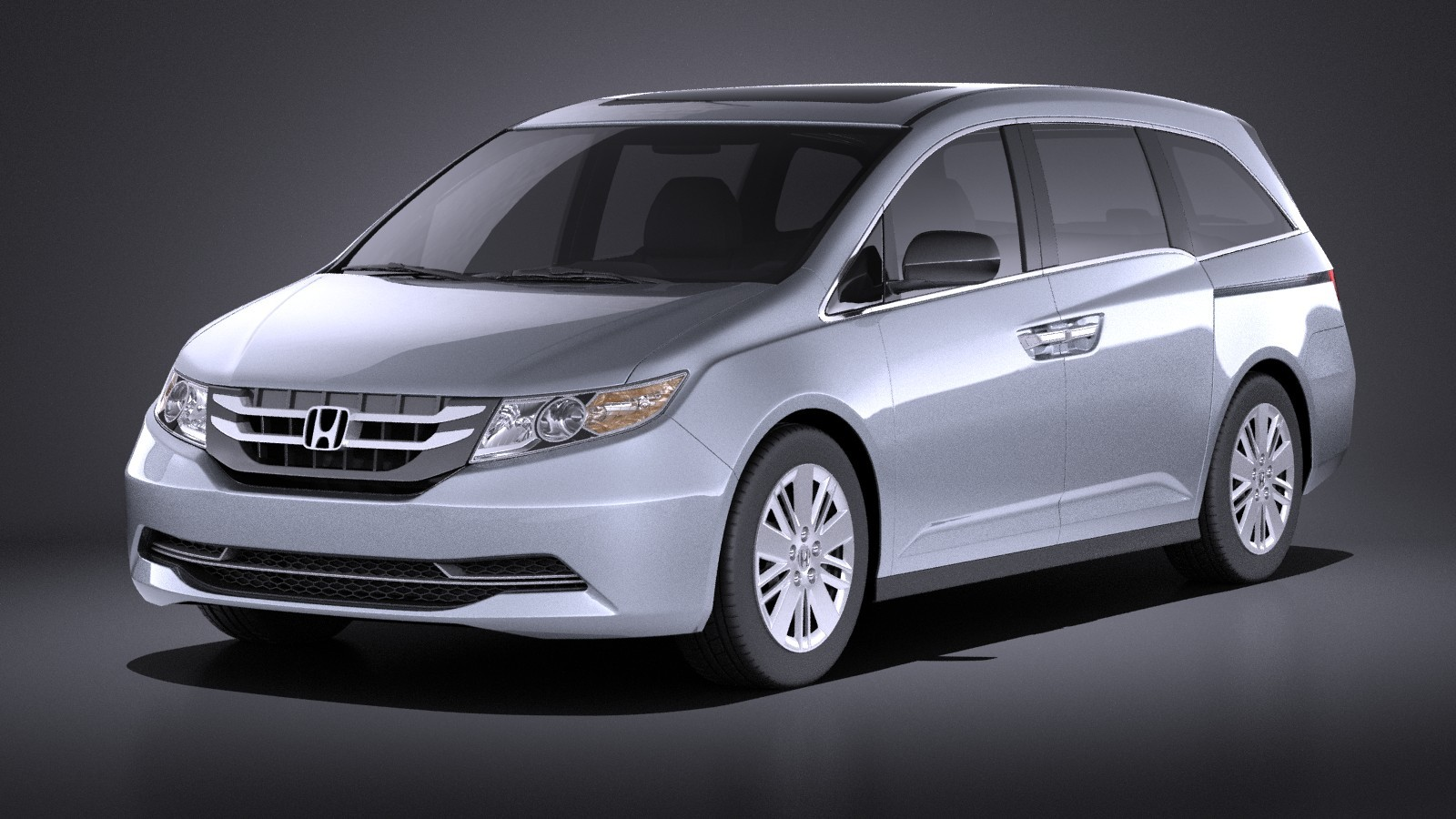 Honda Odyssey 2016 VRAY Sedan Car Vehicles 3D Models