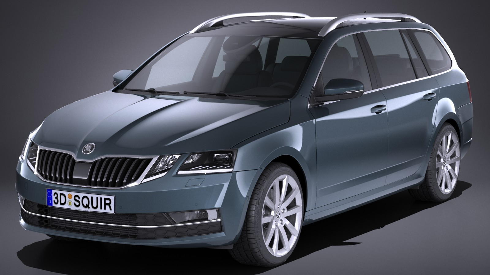 skoda octavia combi 2017 wagon car vehicles 3d models. Black Bedroom Furniture Sets. Home Design Ideas