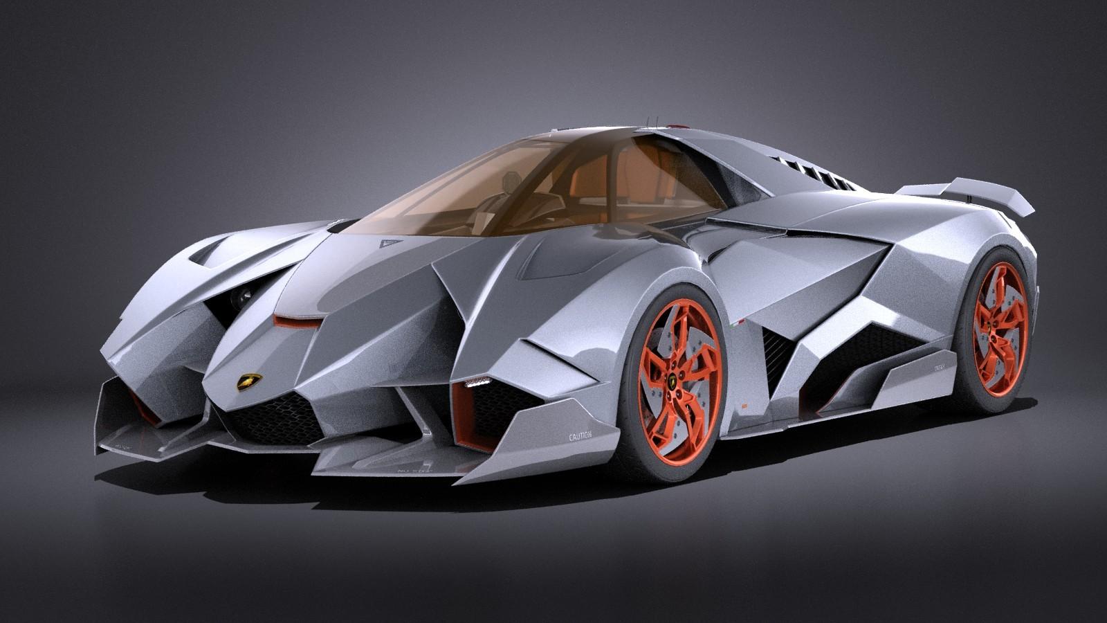 Lamborghini Egoista Vray Coupe Car Vehicles 3d Models