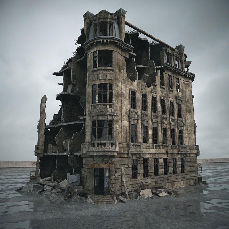 трогательный родной разрушенное здание большое фото вами