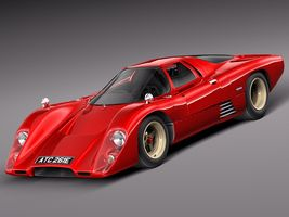 Mclaren M6 GT Grand Prix Race car Image 1