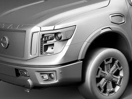 HQ Lowpoly Nissan Titan XD 2016 Image 10