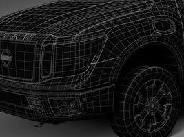 HQ Lowpoly Nissan Titan XD 2016 Image 14