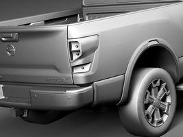 HQ Lowpoly Nissan Titan XD 2016 Image 11