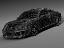 HQ LowPoly Porsche 911 Carrera Coupe 2016 Image 15