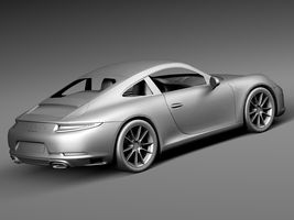 HQ LowPoly Porsche 911 Carrera Coupe 2016 Image 14