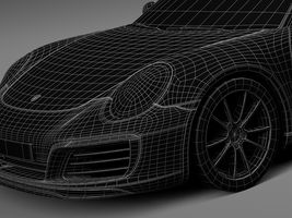 HQ LowPoly Porsche 911 Carrera Coupe 2016 Image 16