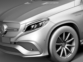HQ Lowpoly Mercedes-Benz GLE63 AMG Coupe 2016 Image 10