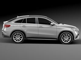 HQ Lowpoly Mercedes-Benz GLE63 AMG Coupe 2016 Image 7