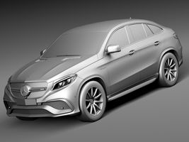 HQ Lowpoly Mercedes-Benz GLE63 AMG Coupe 2016 Image 9