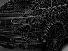 HQ Lowpoly Mercedes-Benz GLE63 AMG Coupe 2016 Image 15