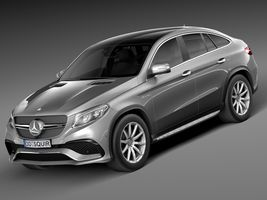 HQ Lowpoly Mercedes-Benz GLE63 AMG Coupe 2016 Image 1