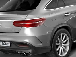 HQ Lowpoly Mercedes-Benz GLE63 AMG Coupe 2016 Image 4