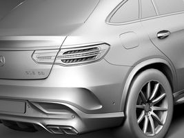 HQ Lowpoly Mercedes-Benz GLE63 AMG Coupe 2016 Image 11
