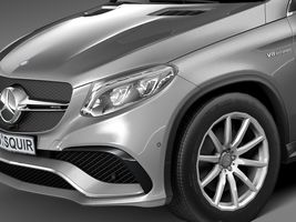 HQ Lowpoly Mercedes-Benz GLE63 AMG Coupe 2016 Image 3