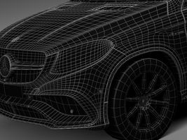 HQ Lowpoly Mercedes-Benz GLE63 AMG Coupe 2016 Image 14