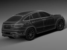 HQ Lowpoly Mercedes-Benz GLE63 AMG Coupe 2016 Image 16