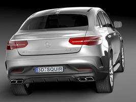 HQ Lowpoly Mercedes-Benz GLE63 AMG Coupe 2016 Image 6