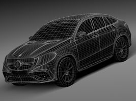 HQ Lowpoly Mercedes-Benz GLE63 AMG Coupe 2016 Image 13