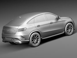 HQ Lowpoly Mercedes-Benz GLE63 AMG Coupe 2016 Image 12