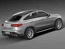 HQ Lowpoly Mercedes-Benz GLE63 AMG Coupe 2016 Image 5