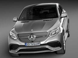 HQ Lowpoly Mercedes-Benz GLE63 AMG Coupe 2016 Image 2