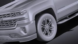 Chevrolet Silverado Double Cab 2016 VRAY Image 10