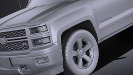 Chevrolet Silverado 1500 Double Cab 2015 VRAY Image 10