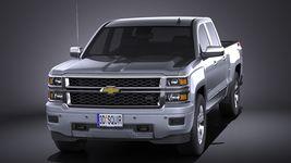 Chevrolet Silverado 1500 Double Cab 2015 VRAY Image 2
