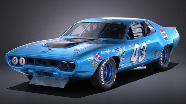 Plymouth Roadrunner NASCAR Richard Petty 1971 Image 1