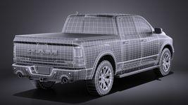HQ LowPoly Dodge RAM 1500 Laramie Limited 2015 VRAY Image 14