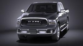 HQ LowPoly Dodge RAM 1500 Laramie Limited 2015 VRAY Image 2