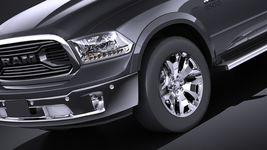 HQ LowPoly Dodge RAM 1500 Laramie Limited 2015 VRAY Image 3