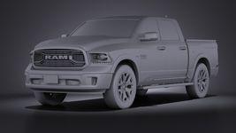 HQ LowPoly Dodge RAM 1500 Laramie Limited 2015 VRAY Image 9