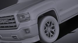 GMC Sierra crew cab 2014 VRAY Image 10