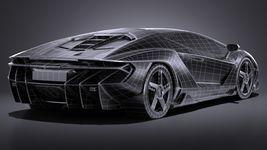 HQ LowPoly Lamborghini Centenario lp 770-4 2017 Image 18