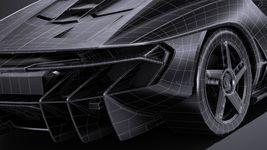 HQ LowPoly Lamborghini Centenario lp 770-4 2017 Image 17
