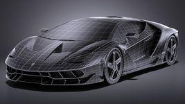 HQ LowPoly Lamborghini Centenario lp 770-4 2017 Image 15