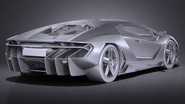 HQ LowPoly Lamborghini Centenario lp 770-4 2017 Image 14