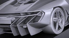 HQ LowPoly Lamborghini Centenario lp 770-4 2017 Image 13