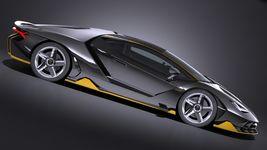 HQ LowPoly Lamborghini Centenario lp 770-4 2017 Image 6