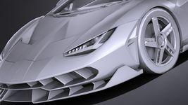HQ LowPoly Lamborghini Centenario lp 770-4 2017 Image 12