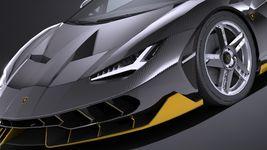 HQ LowPoly Lamborghini Centenario lp 770-4 2017 Image 2
